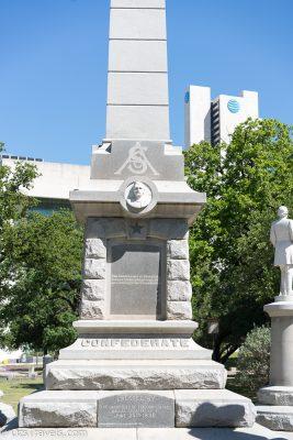 Dallas Texas,  Pioneer Park Cemetery, Confederate War Memorial Dallas
