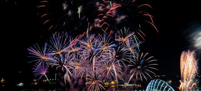 2017 Singapore Grand Prix Fireworks