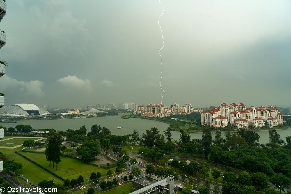 Singapore, My Balcony, Singapore Lightening