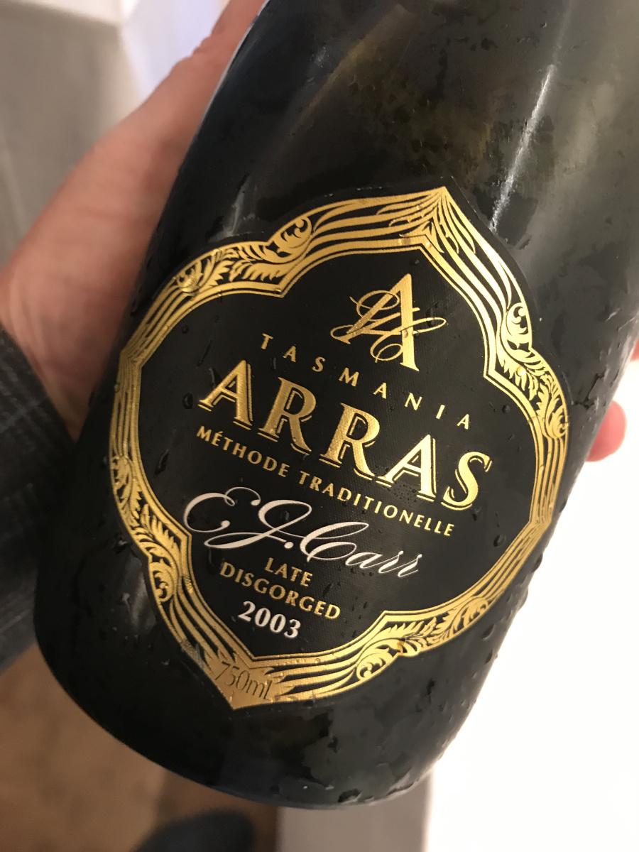 Wine, 2018 Wine Reviews, Wine Reviews, 2003 Arras EJ Carr Late Disgorged Sparkling, Dec 2018 Wine Reviews