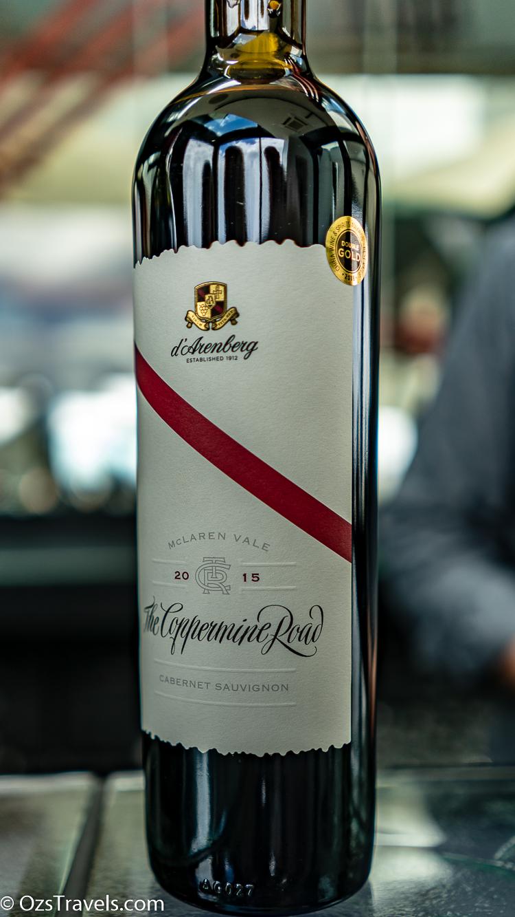d'Arenberg, d'Arenburg McLaren Vale,  Oz's Wine Reviews,  Oz's Winery Reviews,