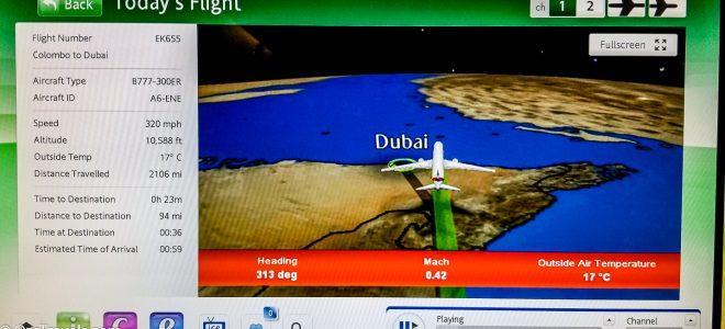 Colombo to Dubai – EK655